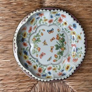 Daher Ware Metal Tray 71 England Butterfly Design
